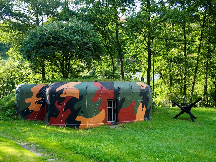 Jeden z bunkrů ve Stříbře.